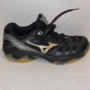 Mizuno Wave Rally Athletic Shoes Black/Gold 7